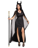 Keeper Of The Damned Gown Adult Womens Halloween Costume Black Demon Dress SM-LG