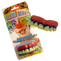 Billy-Bob Clown Teeth Hollywood Quality Costume Fake Teeth Custom Fit