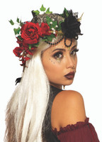 Fortune Teller Flower Crown Womens Renaissance Headpiece Adult Princess