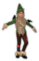 Scarecrow Halloween Costume Child Boys Girls Spooky Farmer Bird-Scarer SM-LG