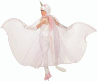 Theatrical Mystical Unicorn Cape Wings Iridescent White Adult Costume Accessory