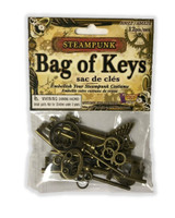 Steampunk Bag of Multi Keys Victorian Industrial Jewelry Costume Accessory Prop