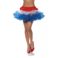4th of July Tutu Skirt Costume Ballerina Adult Womens Crinoline Red White blue