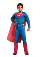 Deluxe DC Justice League Superman Child Costume Padded Jumpsuit Licensed Medium