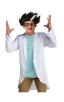 Mad Scientist Teen Halloween Costume Shirt Lab Coat Doctor Nurse X-Large 14-16