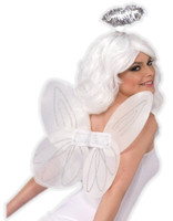 White Angel Kit Halo & Wings Adult Womens Mens Christmas Costume Accessory