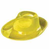 Deluxe Yellow Fedora Hat Adult Costume Accessory Detective Gangster Pimp