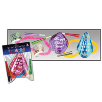 Happy New Year's Eve Party Supply Kit Hats Tiaras Horns Leis for 4 people
