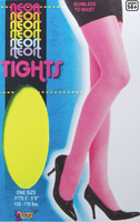 Neon Green Tights Pantyhose 80s Retro Costume Accessory Women's Hosiery One Size