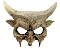 Horned Devil Half Mask Adult Mens Venetian Crackled Finish Costume Accessory