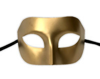 Sexy Gold Eye Mask Masquerade Party Adult Halloween Venetian Costume Accessory
