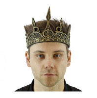 Gold King Foam Halloween Crown Medieval Adjustable Costume Accessory Adult