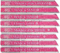 8 Bridal Party Sashes Set Bride Tribe Bridesmaid Maid Of Honor Mothers Hen Night