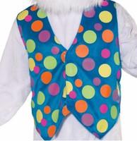 Mascot Blue Polka Dot Vest Adult Mascot Costume Accessory Color Soft Fleece XL
