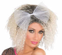 Retro 80's 90's Frizzed Crimped Madonna Blond Wig Costume Accessory Material Girl