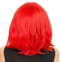 Rockstar Cosplay Straight Short Bob Costume Wig Womens Red Gothic Anime Stylable