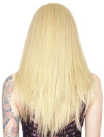 "Rockstar Cosplay Long Straight 24"" Light Blonde Mix Costume Wig Women's Stylable"