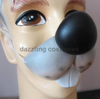 Cute Mouse Vinyl Rubber Nose Costume Accessory Rodent Mice Animal Children Adult