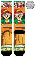 Kellogg's Keebler Licensed Sublimated Crew Socks Cookies Mens Adult Sz 10-13