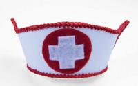 Sexy Mini Nurse Hat White Red Costume Accessory Hospital Cap Honey Girl Doctor