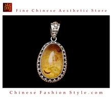 Fine Tibetan Turquoise Coral Gemstone Jewelry 925 Silver Pendant 100% Handcraft #106
