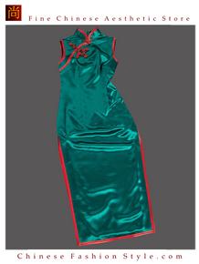 Premium Silk Top Tailor Artistry Cheongsam Qipao Gown Dress - Free Custom Made #113