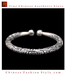 Fine 99 Cuff Bracelet High Purity Sterling Silver Jewelry 100% Handcrafted #119