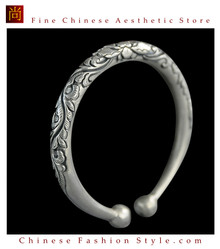 Fine 999 Cuff Bracelet High Purity Sterling Silver Jewelry 100% Handcrafted #124