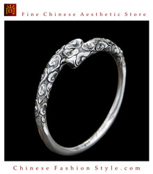 Fine 999 Cuff Bracelet High Purity Sterling Silver Jewelry 100% Handcrafted #125