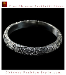 Fine 99 Cuff Bracelet High Purity Sterling Silver Jewelry 100% Handcrafted #127