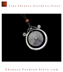100% Handmade Miao Tribal Silver Pendant Chain Necklace for Women #104