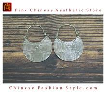 Fine 99 Earrings High Purity Sterling Silver Jewelry 100% Handcrafted Art #105