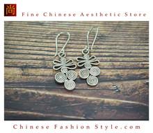 Fine 99 Earrings High Purity Sterling Silver Jewelry 100% Handcrafted Art #120