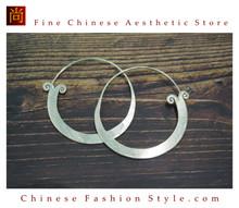 Fine 99 Earrings High Purity Sterling Silver Jewelry 100% Handcrafted Art #124