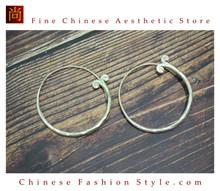 Fine 99 Earrings High Purity Sterling Silver Jewelry 100% Handcrafted Art #127