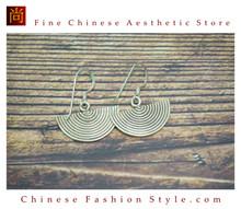 Fine 99 Earrings High Purity Sterling Silver Jewelry 100% Handcrafted Art #134