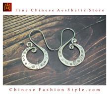 Fine 99 Earrings High Purity Sterling Silver Jewelry 100% Handcrafted Art #137