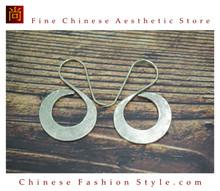 Fine 99 Earrings High Purity Sterling Silver Jewelry 100% Handcrafted Art #138