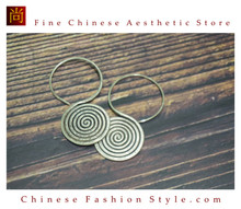 Fine 99 Earrings High Purity Sterling Silver Jewelry 100% Handcrafted Art #141