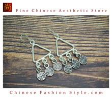 Fine 99 Earrings High Purity Sterling Silver Jewelry 100% Handcrafted Art #147