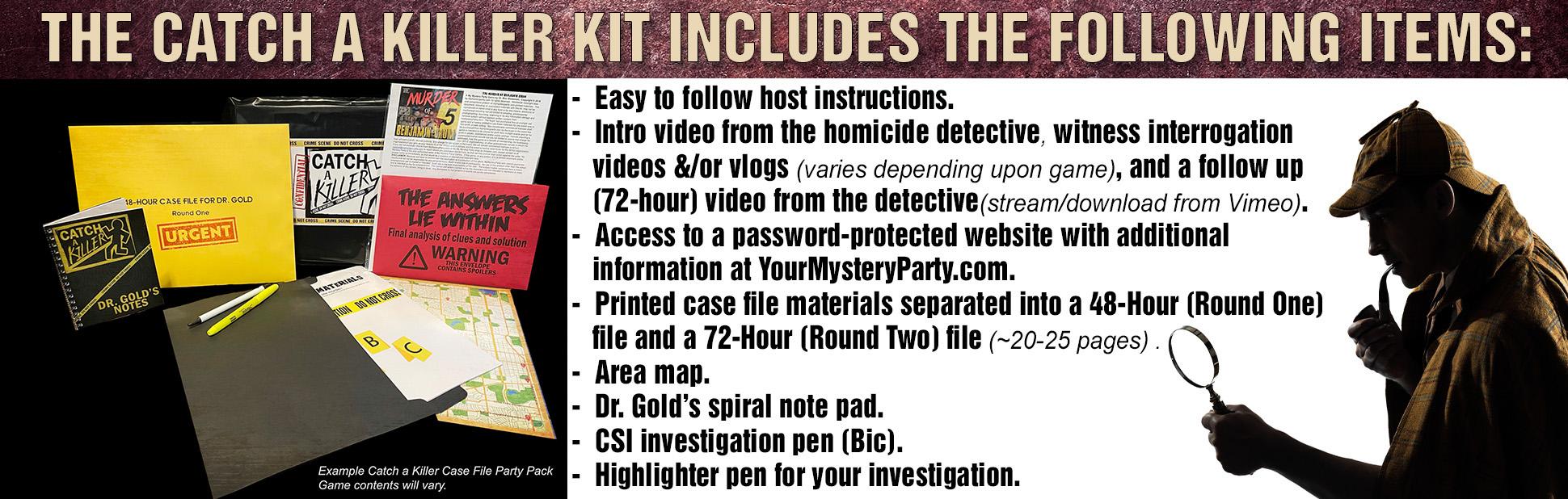 Catch a Killer case file game.