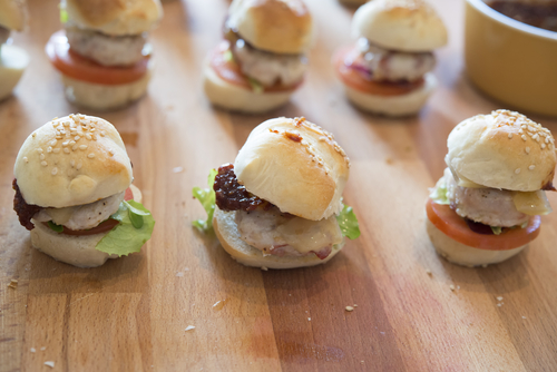 Tiny sliders for a murder mystery party