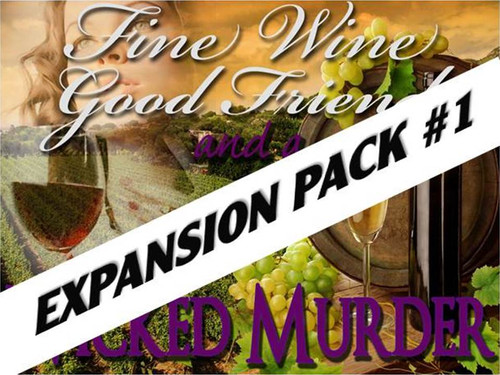 Fun wine tasting murder mystery expansion pack