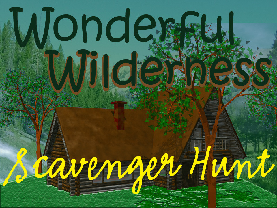 Wilderness scavenger hunt party