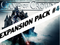 Game of Crowns expansion pack number 4 for a medieval murder mystery party game.