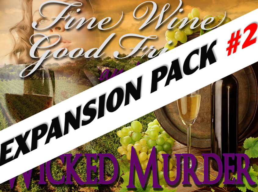 Wine murder mystery game expansion pack #2