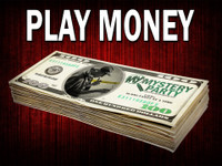 Play money for mystery party games - not real tender - just for fun.