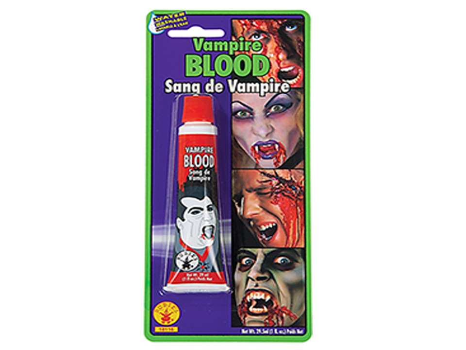 Fake blood for murder mystery party games