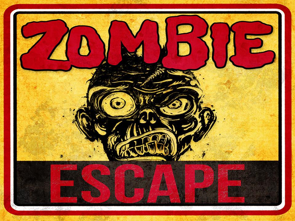 image about Printable Escape Room known as Zombie Escape A key match