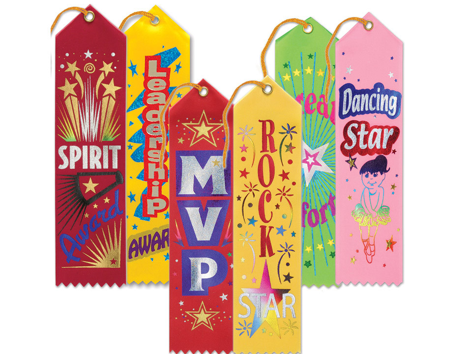 Murder mystery bonus game ribbons